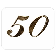 Number 50 Elegant Gold Glitter Look Typography 50th Anniversary Double Sided Flano Blanket (medium)