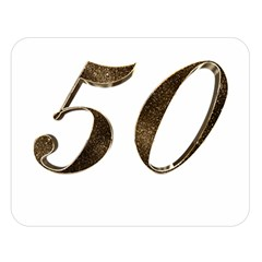 Number 50 Elegant Gold Glitter Look Typography 50th Anniversary Double Sided Flano Blanket (large)