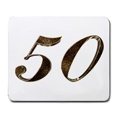 Number 50 Elegant Gold Glitter Look Typography Large Mousepads