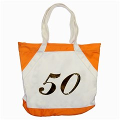 Number 50 Elegant Gold Glitter Look Typography Accent Tote Bag