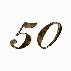 Number 50 Elegant Gold Glitter Look Typography Canvas 20  X 30
