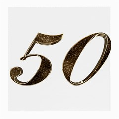 Number 50 Elegant Gold Glitter Look Typography Medium Glasses Cloth