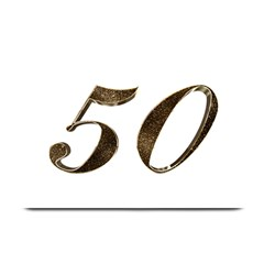Number 50 Elegant Gold Glitter Look Typography Plate Mats