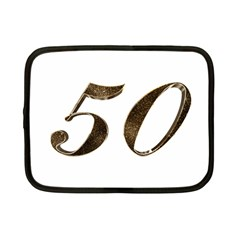 Number 50 Elegant Gold Glitter Look Typography Netbook Case (small)