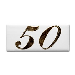 Number 50 Elegant Gold Glitter Look Typography Cosmetic Storage Cases