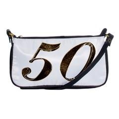Number 50 Elegant Gold Glitter Look Typography Shoulder Clutch Bags