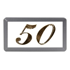 Number 50 Elegant Gold Glitter Look Typography Memory Card Reader (Mini)