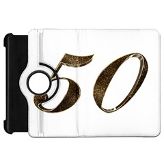 Number 50 Elegant Gold Glitter Look Typography Kindle Fire Hd 7