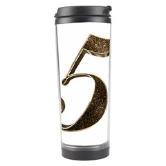 Number 50 Elegant Gold Glitter Look Typography Travel Tumbler