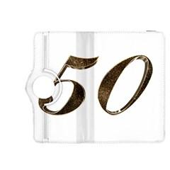 Number 50 Elegant Gold Glitter Look Typography Kindle Fire Hdx 8 9  Flip 360 Case