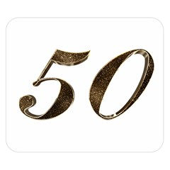 Number 50 Elegant Gold Glitter Look Typography Double Sided Flano Blanket (small)