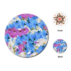 Tulips Flower Pattern Playing Cards (Round)