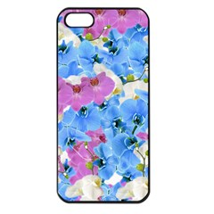 Tulips Flower Pattern Apple Iphone 5 Seamless Case (black)