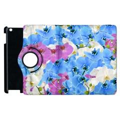 Tulips Flower Pattern Apple iPad 3/4 Flip 360 Case