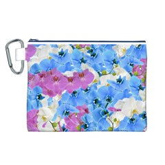 Tulips Flower Pattern Canvas Cosmetic Bag (L)