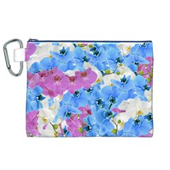 Tulips Flower Pattern Canvas Cosmetic Bag (XL)