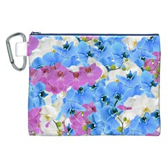 Tulips Flower Pattern Canvas Cosmetic Bag (XXL)