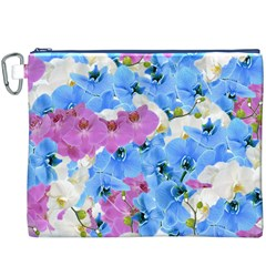 Tulips Flower Pattern Canvas Cosmetic Bag (XXXL)