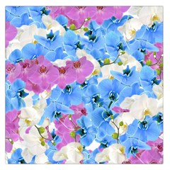 Tulips Flower Pattern Large Satin Scarf (square)