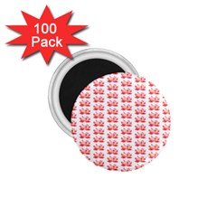 Red Lotus Floral Pattern 1 75  Magnets (100 Pack)