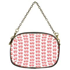 Red Lotus Floral Pattern Chain Purses (one Side)