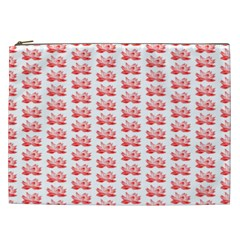 Red Lotus Floral Pattern Cosmetic Bag (XXL)