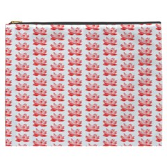 Red Lotus Floral Pattern Cosmetic Bag (XXXL)