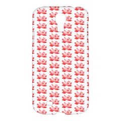 Red Lotus Floral Pattern Samsung Galaxy S4 I9500/i9505 Hardshell Case