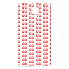 Red Lotus Floral Pattern Galaxy Note 4 Back Case