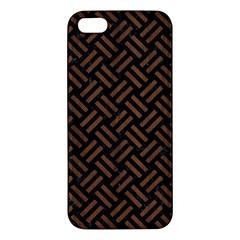Wov2 Bk Mrbl Br Wood Iphone 5s/ Se Premium Hardshell Case