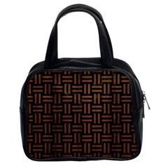WOV1 BK-MRBL BR-WOOD Classic Handbags (2 Sides)