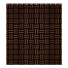 WOV1 BK-MRBL BR-WOOD Shower Curtain 66  x 72  (Large)