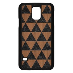 Tri3 Bk Mrbl Br Wood Samsung Galaxy S5 Case (black)