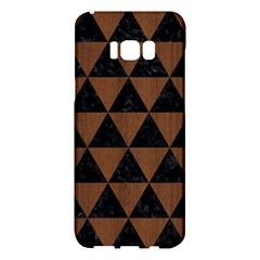 Triangle3 Black Marble & Brown Wood Samsung Galaxy S8 Plus Hardshell Case