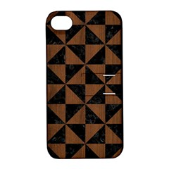 TRI1 BK-MRBL BR-WOOD Apple iPhone 4/4S Hardshell Case with Stand
