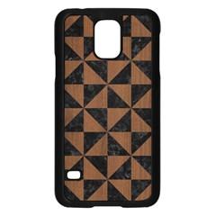 TRI1 BK-MRBL BR-WOOD Samsung Galaxy S5 Case (Black)