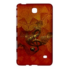 Golden Clef On Vintage Background Samsung Galaxy Tab 4 (8 ) Hardshell Case
