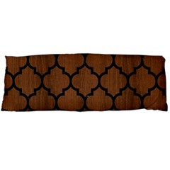 Tile1 Black Marble & Brown Wood (r) Body Pillow Case Dakimakura (two Sides)