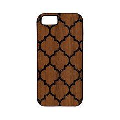Til1 Bk Mrbl Br Wood (r) Apple Iphone 5 Classic Hardshell Case (pc+silicone)