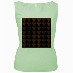 TRI2 BK-MRBL BR-WOOD Women s Green Tank Top