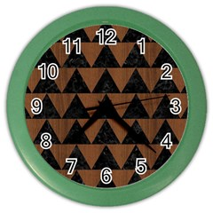 TRI2 BK-MRBL BR-WOOD Color Wall Clocks