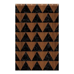 TRI2 BK-MRBL BR-WOOD Shower Curtain 48  x 72  (Small)