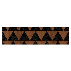 TRI2 BK-MRBL BR-WOOD Satin Scarf (Oblong)