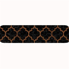 Tile1 Black Marble & Brown Wood Large Bar Mat