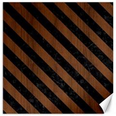 STR3 BK-MRBL BR-WOOD (R) Canvas 12  x 12