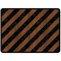 STR3 BK-MRBL BR-WOOD Fleece Blanket (Large)