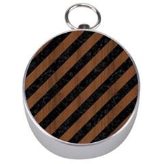 Str3 Bk Mrbl Br Wood Silver Compasses