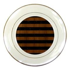 STR2 BK-MRBL BR-WOOD Porcelain Plates