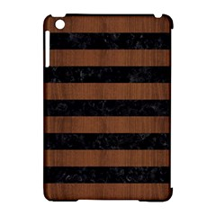 STR2 BK-MRBL BR-WOOD Apple iPad Mini Hardshell Case (Compatible with Smart Cover)
