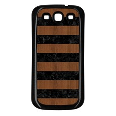 Str2 Bk Mrbl Br Wood Samsung Galaxy S3 Back Case (black)